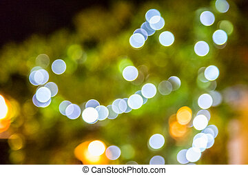 Blur bokeh of light in the city