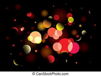 blur bright light
