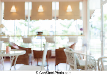 blur cafe background, interior decoration cafe coffee