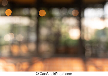 Blur cafe coffee with bokeh background
