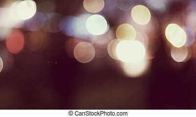 Blur carlights in the night toned colorized footage -...