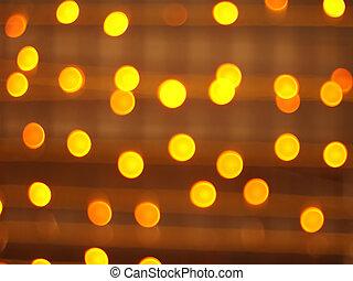 Blur image of yellow round light bulb