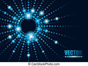 Bright blue lights with blur background and copy space