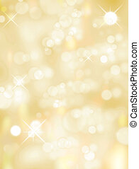 Blur lights - Christmas light background, Yellow and white...