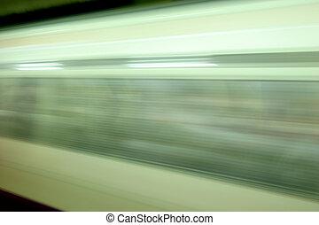 Blur - motion blur of tube train