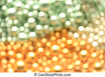 Blur of balls with colorful bokeh
