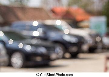 Blur of car parking