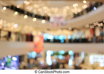 Blur of department store background.