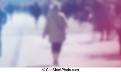 Blur People Walking On the Street