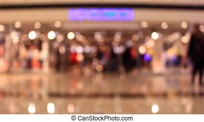 Blur people walking shopping in department store