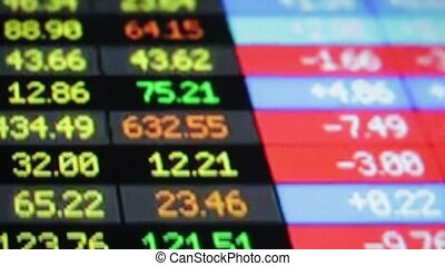 recording data market number code from a lcd monitor - blur...