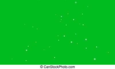 blur silver and gold little snow flying faded abstract motion glittering particles on green screen background