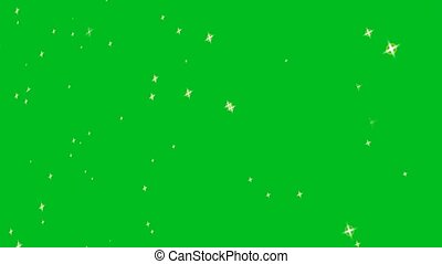 blur silver star gold radius flying faded abstract motion glittering particles on green screen background