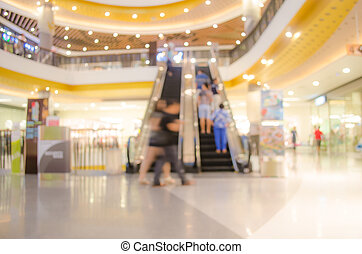 Blur the people in shopping mall.