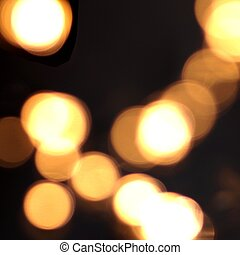 Blur yellow light background