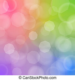 Blured bokeh on colorful background