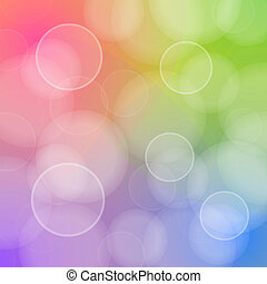 Blured circles of bokeh on colors