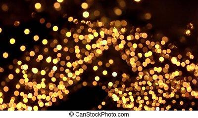 Blured hanging lights. Slightly moving lights.