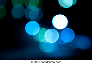 Abstract picture of blured colored lights