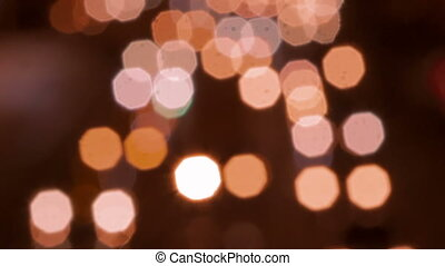 Blured night city traffic lights
