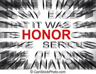 Blured text with focus on HONOR