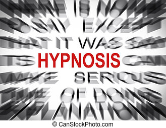 Blured text with focus on HYPNOSIS