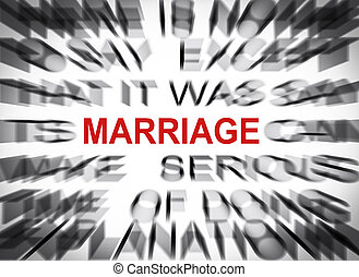 Blured text with focus on MARRIAGE