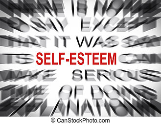 Blured text with focus on SELF-ESTEEM