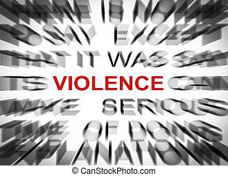 blured, texte, à, foyer, sur, violence