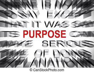 blured, texto, com, foco, ligado, propósito