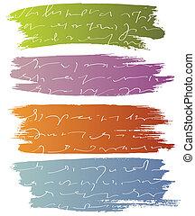 blures, vektor, text