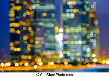 Blurred abstract background lights, beautiful cityscape view