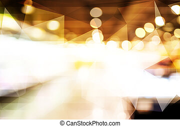 Blurred abstract background with bokeh light.