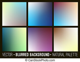Blurred abstract backgrounds collection. Smooth template design.