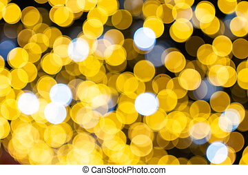 blurred abstract bokeh background for Decorations for New Year and Holidays, Christmas ball light