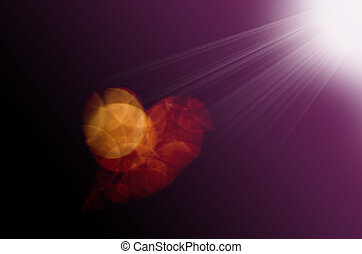 Blurred abstract bokeh background in heart shape with color ...