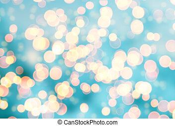 Blurred abstract golden spot lights
