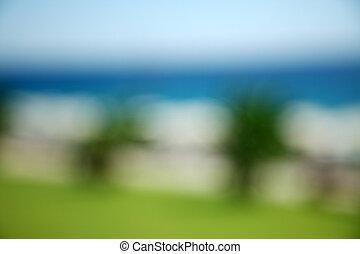 blurred background beach