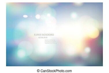 blurred background. bokeh. - vector illustration of soft...
