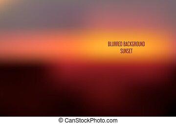 Blurred backgrounds vector. Blurred Sunset, sunrise...