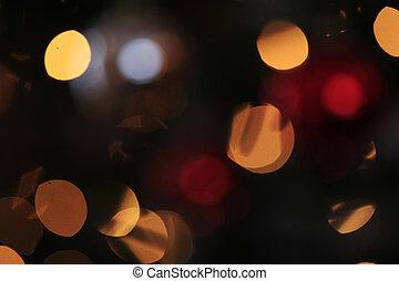 Blurred background lights
