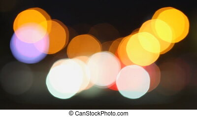 Blurred background of night traffic