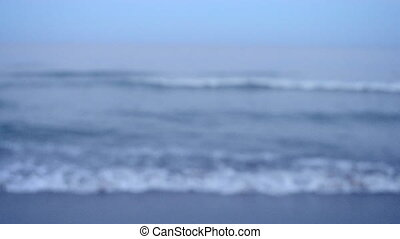 Blurred background sea in the evening at dusk