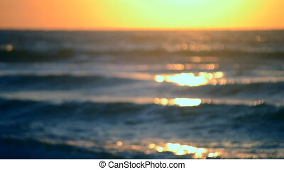 Blurred Background Sunset sunrise dawning at sea ocean