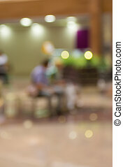 Blurred Background: The buyer in a shopping center in a...