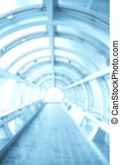 Blurred background with futuristic tunnel