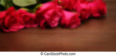 Blurred background with roses