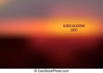 Blurred backgrounds vector. Blurred Sunset, sunrise wallpaper