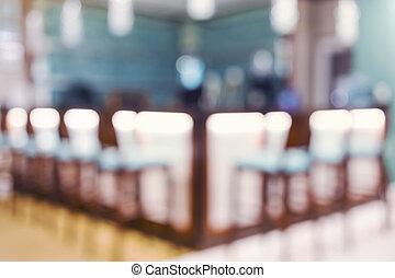 Blurred bar interior background