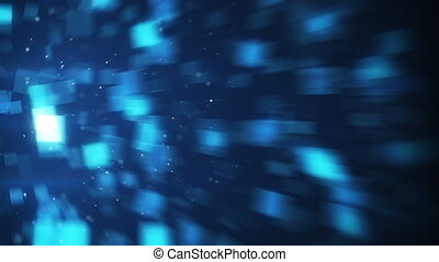 blurred blue squares loopable background